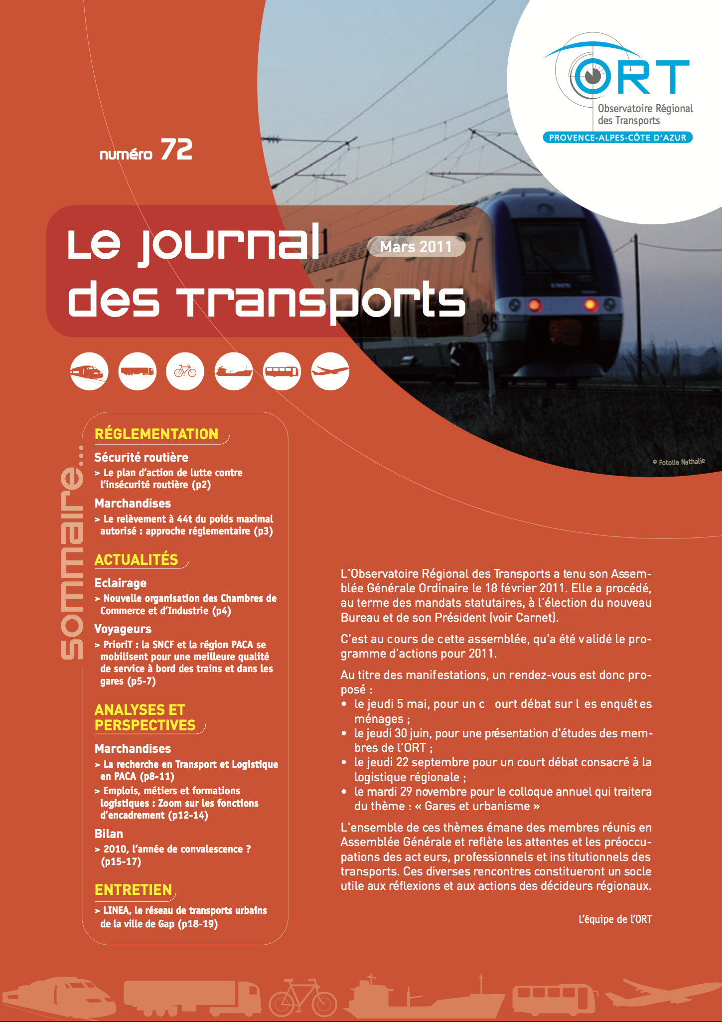 Le Journal des Transports N°72
