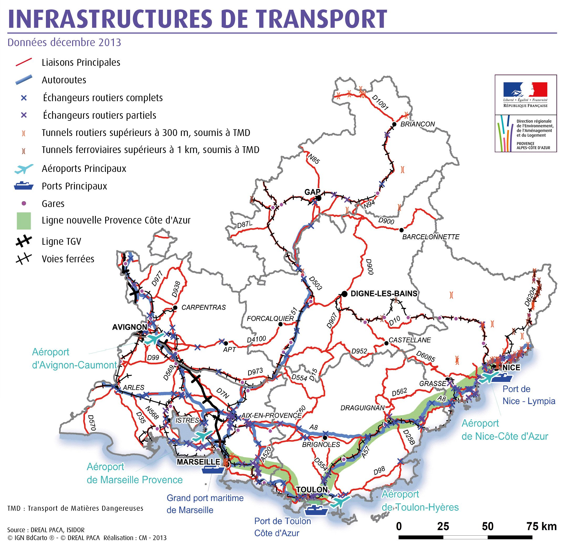 infrastructures de transport
